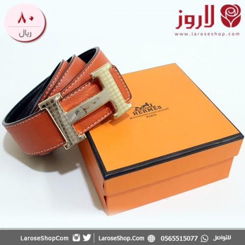 حزام هيرمس Hermes برتقالي لاروز
