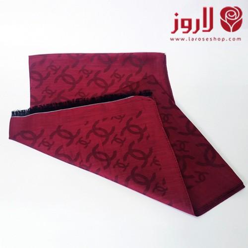 سكارف شانيل Chanel الأحمر المتميز