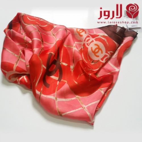 سكارف شانيل Chanel احمر انثوية