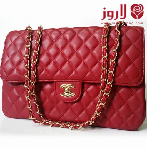 شنطة شانيل Chanel الأحمر المتوهج
