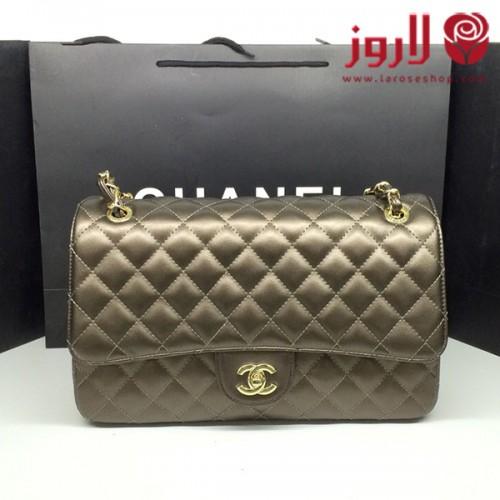 شنطة شانيل Chanel برونزية لامعة