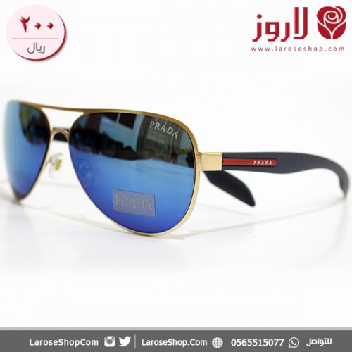 نظارة برادا Prada الذهبي الازرق