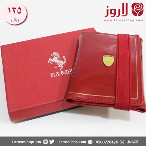 محفظة فيراري Ferrari باللون الأحمر