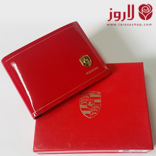 محفظة بورش Porsche رجالي احمر