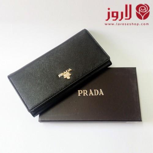 محفظة برادا Prada اسود لاروز