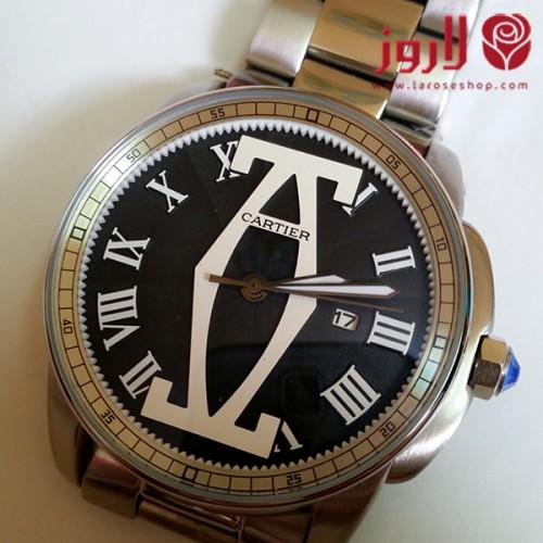 ساعة كارتير Cartier رجالي فضية