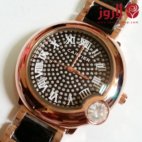 ساعة كارتير Cartier ذهبية خلفية