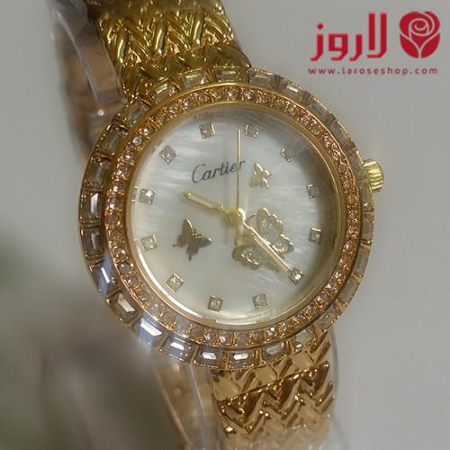 ساعة كارتير Cartier نسائي الذهبية
