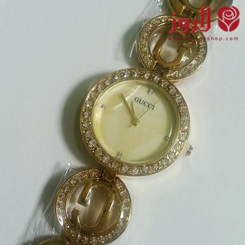 ساعة قوتشي Gucci نسائي ذهبية