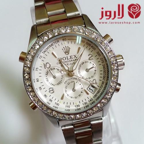 ساعة رولكس Rolex نسائي الفضي