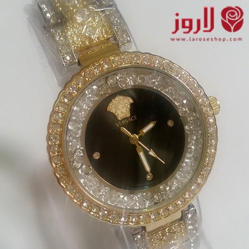 ساعة فرزاتشي Versace نسائي ذهبي