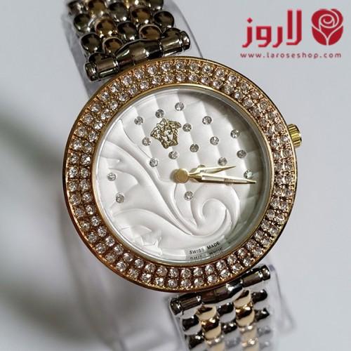 ساعة فرزاتشي Versace نسائي ذهبية